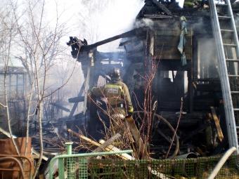 В омской деревне сгорел частный дом: погиб 68-летний дедушка