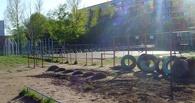 Турники у омского лицея №149 «выживут» во время строительства детского сада