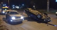 В Омске на улице Перелета перевернулись два автомобиля и погиб пешеход (фото, видео)
