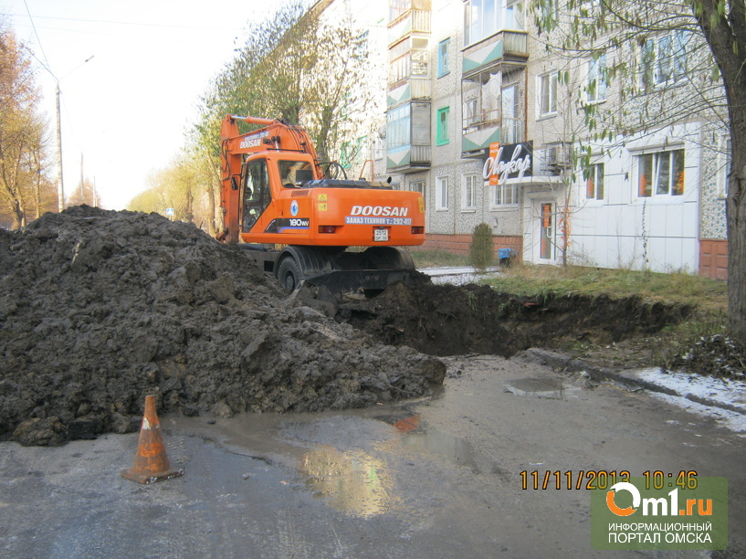 В Омске микрорайон, больница и детсады остаются без воды до вечера