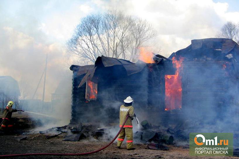 В Омской области горел частный дом