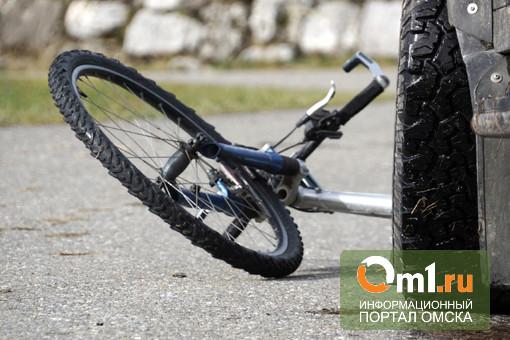 В Омске водитель насмерть сбил велосипедиста и уехал с места ДТП