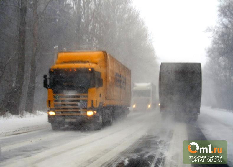 Из-за омских морозов чуть не замерзли 11 дальнобойщиков