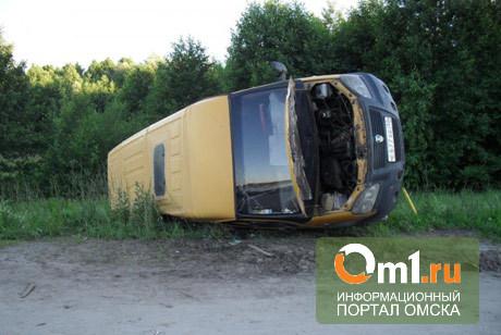 На дороге Омск-Тюмень «Газель» с пассажирами опрокинулась в кювет