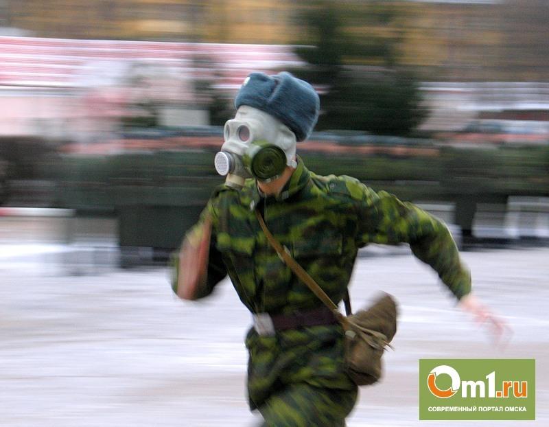 Омских призывников заставят бегать в противогазах