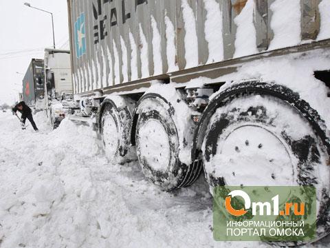 На трассе Омск — Тюмень инспекторы ДПС помогли отогреть фуру