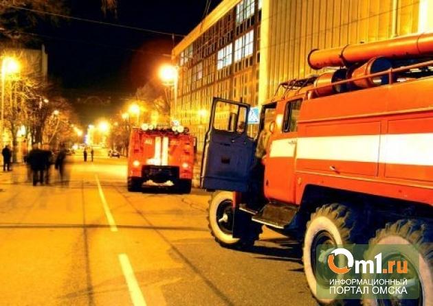 В Омске тушили пожар в подземном переходе