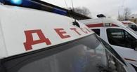 В Омской области автомобиль врезался в машину с детьми