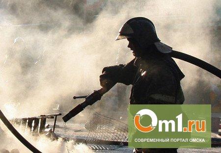 В Омске на 10-й Амурской сгорело два частных дома и сарай