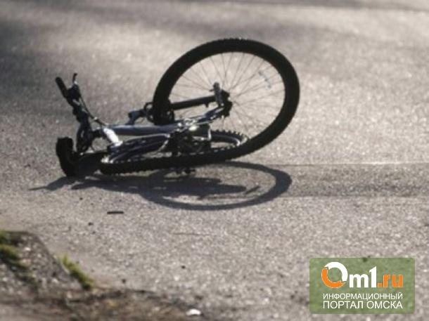 В Омске полицейские сбили велосипедиста