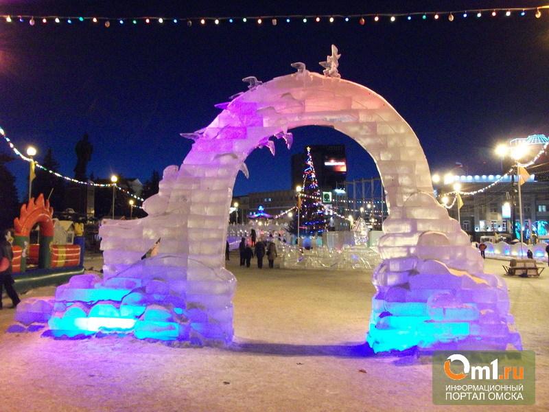 В Омске построят большой ледовый городок