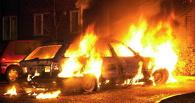В центре Омска сгорел автомобиль
