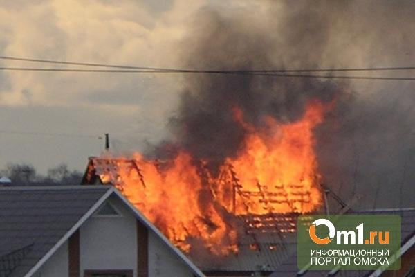В Омске три человека пострадали на пожаре