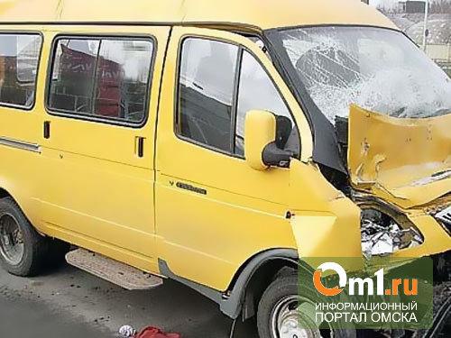 В Омске пассажирская «Газель» попала в ДТП, есть пострадавшие