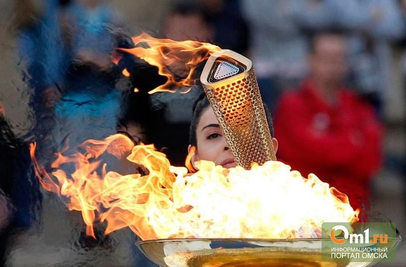 Как в Омске зажигали Олимпийскую чашу