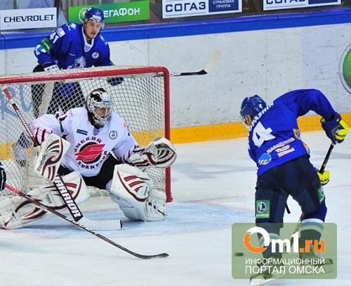 Омский «Авангард» проиграл «Барысу» со счетом 5-2