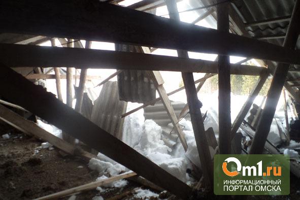 Обрушенную крышу школы в селе Бутаково починят до понедельника