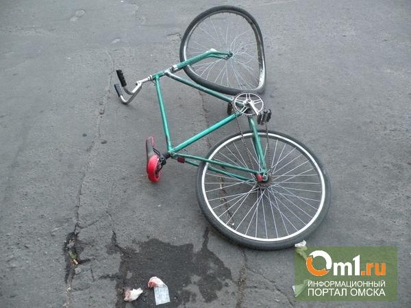 В Омске сбили несовершеннолетнего велосипедиста