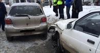 В Омске автоледи со своей 3-летней дочкой попала в ДТП