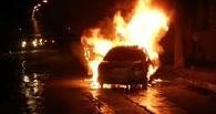 В Омске возле «КИТ-интерьера» сгорел автомобиль