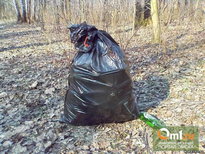 Омск очистили от 8,7 тысяч кубометров мусора