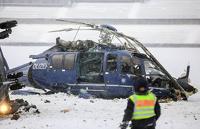 Два полицейских вертолета столкнулись над Берлином