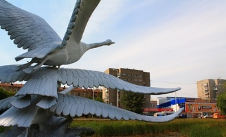 В сквер на Старозагородной роще вернули лебедей