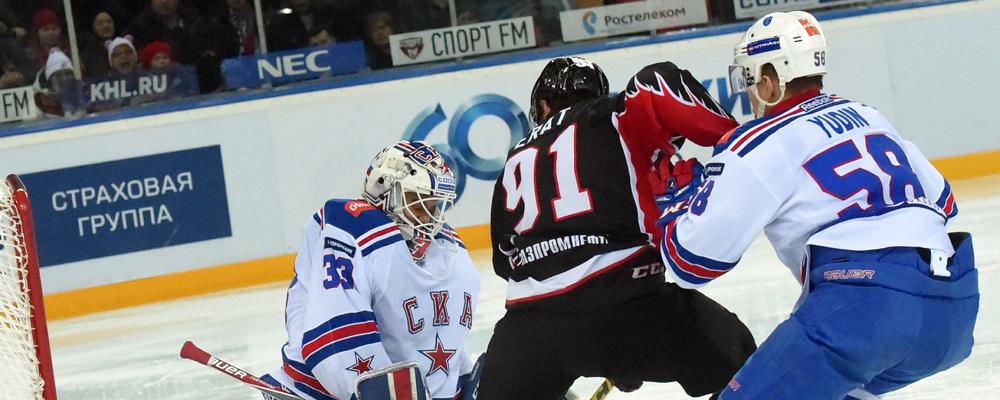 Омский «Авангард» начал выезд с победы над питерским СКА