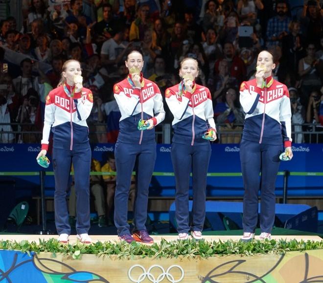 РФ поднялась нашестое место вмедальном зачете Олимпиады