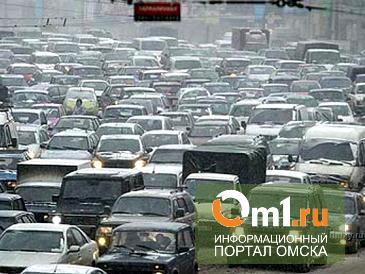 Снежная метель в Омске вызвала девятибалльные пробки