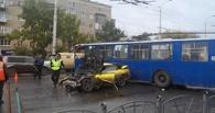 Омич на Skyline протаранил троллейбус на Красном пути