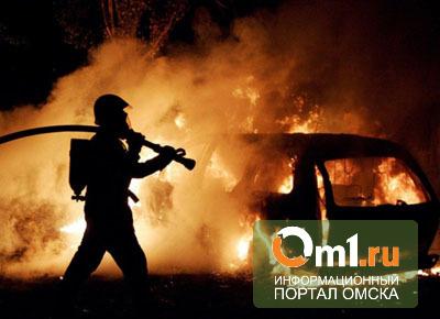 В Омске сгорело 5 автомобилей