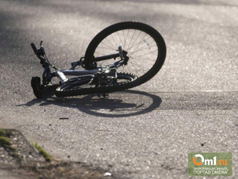 В Омском районе иномарка насмерть сбила велосипедиста