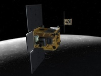 Гравитационные аппараты NASA врезались в поверхность Луны
