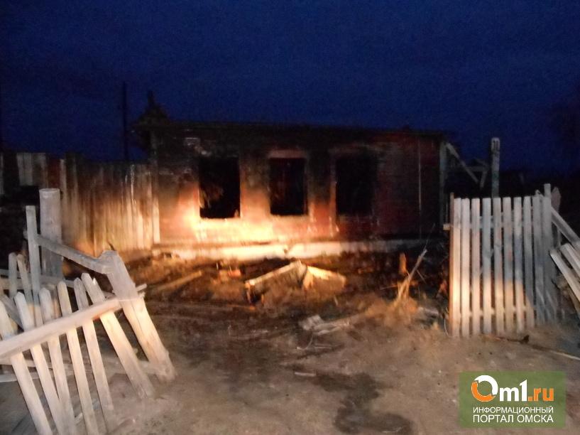 В Омской области на пожаре погибли два человека