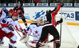 «Авангард» в домашнем матче потерпел поражение от ЦСКА