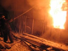 Пожар в Омском районе потушен