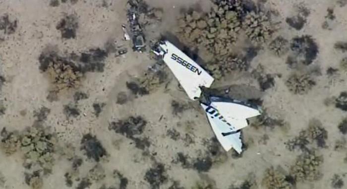 Космический корабль SpaceShipTwo потерпел крушение над США