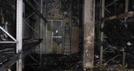 В Омске выгорел склад с продуктами