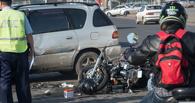 Утром в Омске разбился в ДТП мотоциклист