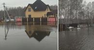 Под Омском затопило коттеджный поселок