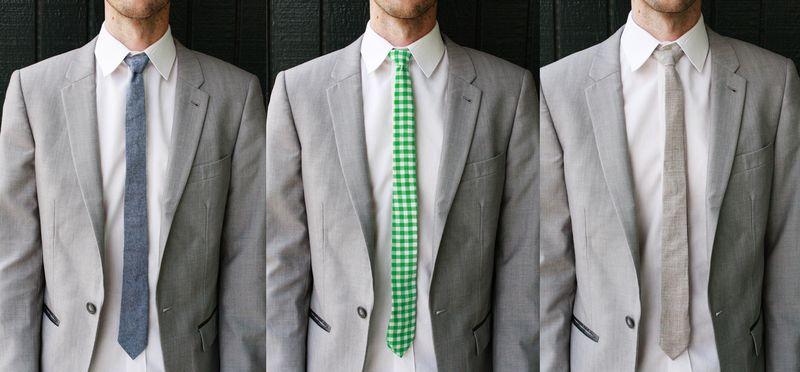 Как широкий галстук сделать узким