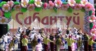 На омском Сабантуе за барана соревновалось всего пять богатырей