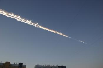 Метеоритный дождь повредил арену «Трактор» в Челябинске