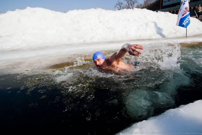 Омские «моржи» открыли купальный сезон