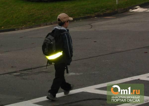 Назаров предлагает снабдить детей в Омской области светоотражающими наклейками
