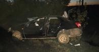 В деревне под Омском ночью произошла авария — один человек погиб, трое госпитализированы (фото)