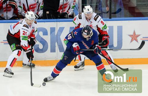Омский «Авангард» выцарапал победу у питерского СКА