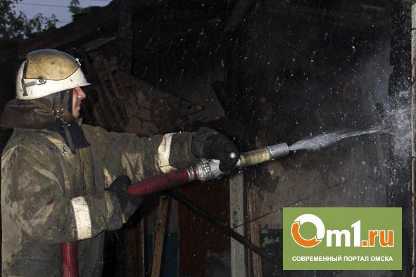 На асфальтовом заводе под Омском горел цех по разогреву масла