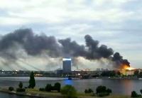 В Латвии пожар разрушил резиденцию президента